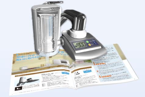 AR技術を浄水器のカタログに利用したイメージ